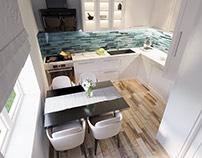Propunere design interior bucatarie casa C.E Suceava,RO