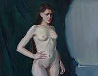 Academic artworks.Nude model