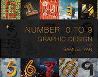 0 to 9 3D Graphic Design
