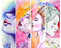 EXPRESSIONISM - Water Color Paintings