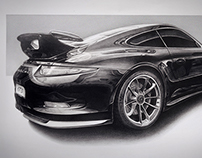 GT3 Pencil drawing