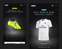 Rebel Sports in-store digital experience