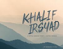 Khalif Irsyad - Brush Font