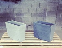 Outdoor furniture made of concrete