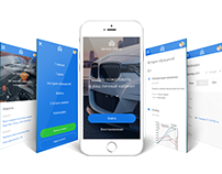 Design of mobile applications for car service