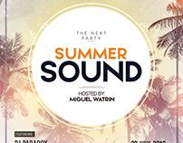 Summer Sound - Free PSD Flyer Template