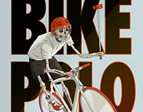 Bike polo player