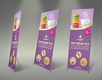 Cafe and Restaurant Roll Up Signage Template Vol.2