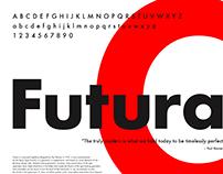 Futura Typeface Poster (2015)