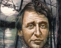 Henry David Thoreau Book Cover Illustration: Walden
