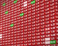 Stock Market Indicator Board - Negative