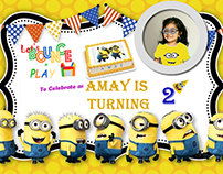 Birthday Invitation Minion Theme