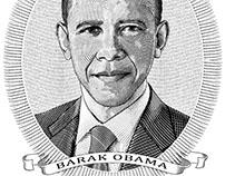 Engraved XPresident Obama