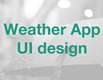 Weather App UI design, job application assignment