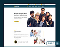 FREE Consultant Website PSD Templates