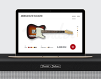 Fender Telecaster product page concept