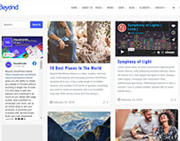 Beyond WordPress Theme Blog Masonry Left Sidebar