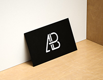 Modern Horizontal and Vertical Business Card Mockup