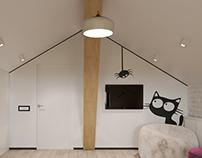Attic nursery room