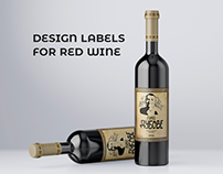 Design labels for red wine