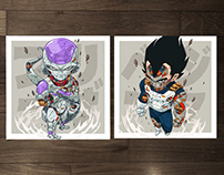 MECHASOUL FRIEZA + VEGETA FINE ART PRINT