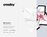 Silk Scarf Mockup Set Edition 2
