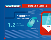 Cleanliness in public transport. Infographic