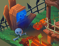 Halloween #Isometric Art