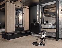 MR FOX Business - Barber shop - Interierový design