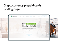 Cryptocurrency prepaid cards landing page