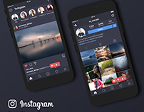 Instagram Dark Theme