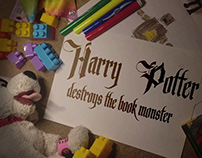 Harry Potter Defeats the Book Monster