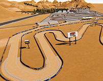 Glen Helen race-track_ Concept and Animation