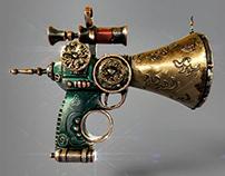 :: SteamPunk Gun ::