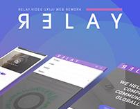 UX / UI WEBSITE DESIGN RE WORK for RELAY VIDEO CREATIVE