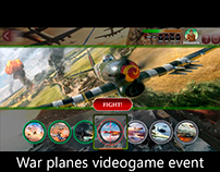UX-UI for an event in an Android game about War Planes