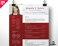 Professional Free Resume Template PSD