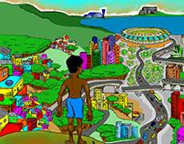 Copa de 2014 - Cidade de Belo Horizonte - Brasil