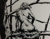 Woman in Tree