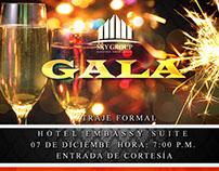 Flyer Invitación GALA Sky