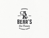 Logo made for a company called Bear's Ice Cream. They s