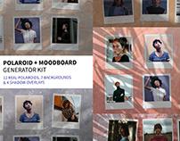 Polaroid & Moodboard Mockup Generator Kit Free