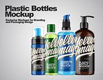 Plastic Bottles Mockups