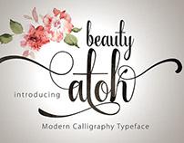 Beauty Atok Script typeface