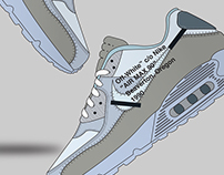 "Off-White x Nike Air Max 90 ""X10"" Poster"