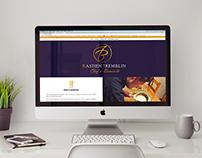 Site internet d'un chef cuisinier à domicile