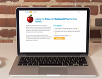 USDA Free and Reduced Lunch Application Website
