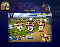 Horse Racing Game Graphic & UI Design