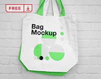 Free Hanging Canvas Bag Mockup