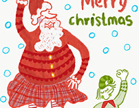 Scottish Christmas greetings card set